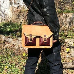 Genuine Alligator Leather Laptop Bag 💼